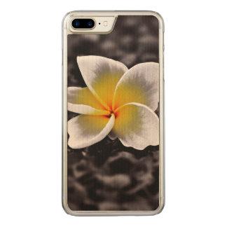 Plumeria Frangipani Hawaii Flower Carved iPhone 8 Plus/7 Plus Case