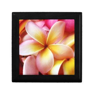 Plumeria Frangipani Hawaii Flower Customised Blank Small Square Gift Box