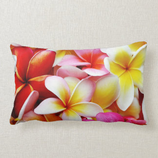 Plumeria Frangipani Hawaii Flower Customised Lumbar Pillow
