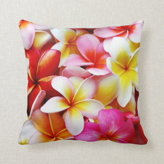 Plumeria Frangipani Hawaii Flower Customised Throw Pillow