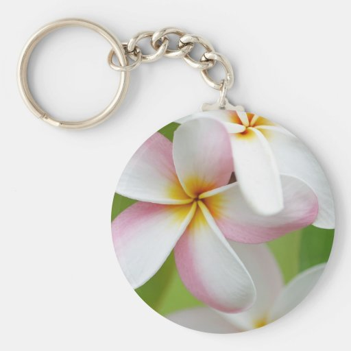 Plumeria Frangipani Hawaii Flower Customized Blank Key Chain