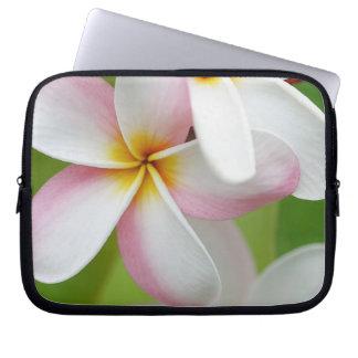 Plumeria Frangipani Hawaii Flower Customized Blank Laptop Sleeves