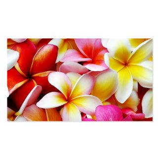 Plumeria Frangipani Hawaii Flower Customized Pack Of Standard Business Cards