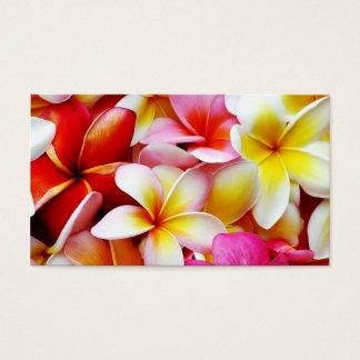 Plumeria Frangipani Hawaii Flower Customized Business Card