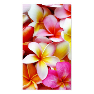 Plumeria Frangipani Hawaii Flower Customized Double-Sided Standard Business Cards (Pack Of 100)