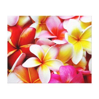 Plumeria Frangipani Hawaii Flower Customized Stretched Canvas Prints