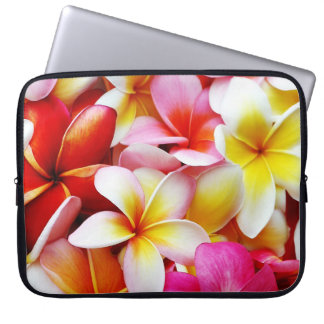 Plumeria Frangipani Hawaii Flower Customized Laptop Computer Sleeve