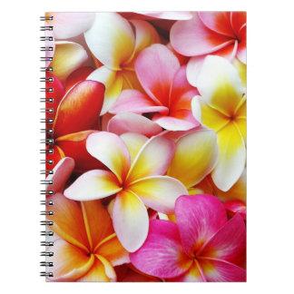 Plumeria Frangipani Hawaii Flower Customized Spiral Note Books