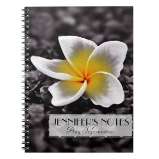 Plumeria Frangipani Hawaii Flower Notebook