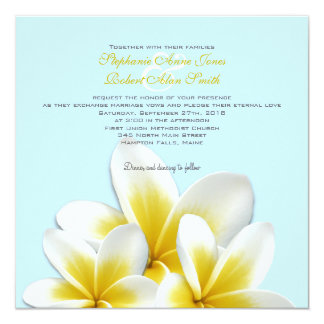 Plumeria Frangipani Tropical Wedding Invitations