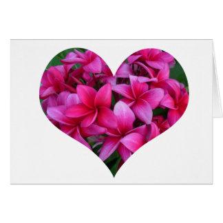 Plumeria Heart on Card