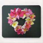 Plumeria in Heart Ring on mousepad