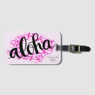 Plumeria Lei Aloha Luggage Tag