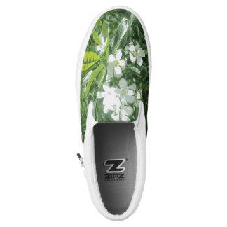 Plumeria Lights Printed Shoes