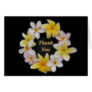Plumeria Note Card Flower Ring Thank, You or Blank