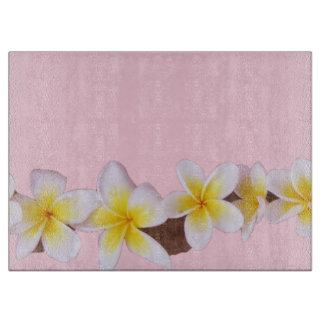 Plumeria on Pretty Pink Cutting Board