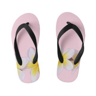 Plumeria on Pretty Pink Kid's Thongs