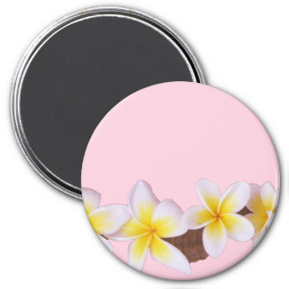 Plumeria on Pretty Pink Magnet