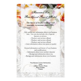 Plumeria Orchid Lei in Sand Program Flyer