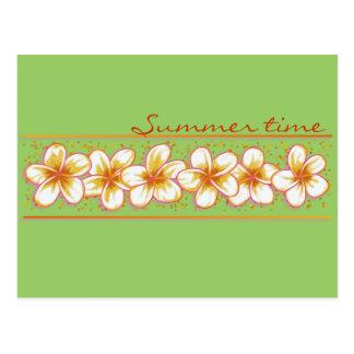 plumeria post card
