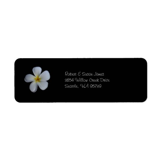 Plumeria Return Address Labels