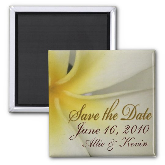Plumeria Save the Date Magnet