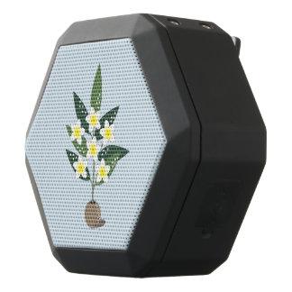 Plumeria Vase Black Bluetooth Speaker