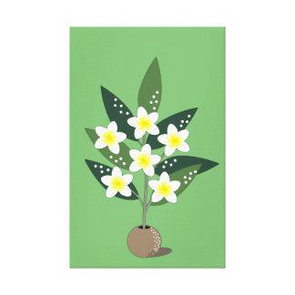 Plumeria Vase Canvas Print