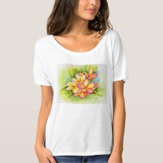 Plumeria watercolor by Malorie Arisumi Maui Hawaii T-Shirt