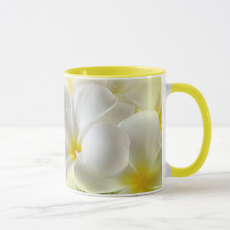 Plumeria White and Yellow Mug