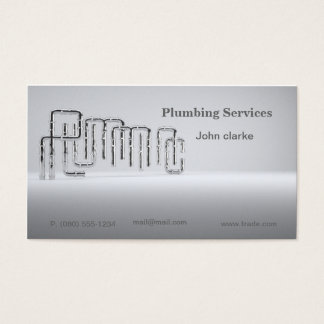 Plumming or trade services business card