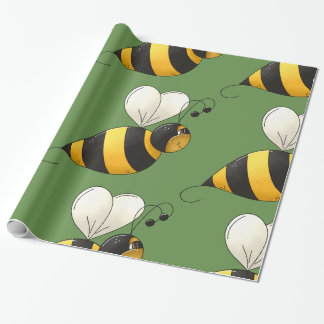 Plump Bee Glossy Wrapping Paper