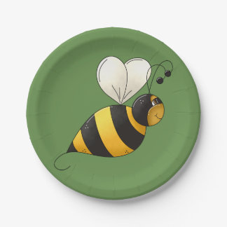 Plump Bee Paper Plates