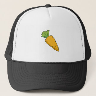 Plump Orange Cartoon Carrot Trucker Hat