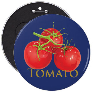 Plump Red Tomatoes Pinback Buttons