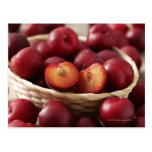 Plums in basket post cards