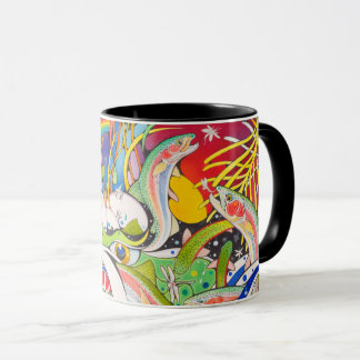 """Plung Pool Rainbows"" Original by Trevor Hawkins Mug"