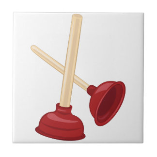 Plungers Small Square Tile