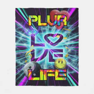 PLUR LIFE  FLEECE BLANKET - 001