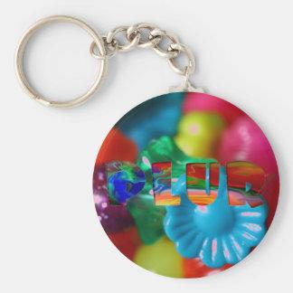 """PLUR Rave """"Kandi"""" Basic Round Button Key Ring"""