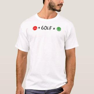 Plus Golf Equals Happy Face T-Shirt