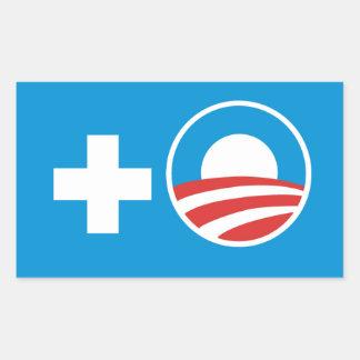 plus obama rectangular sticker