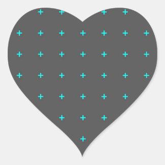plus sign pattern heart sticker