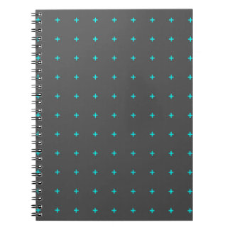 plus sign pattern notebook