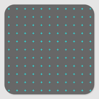 plus sign pattern square sticker