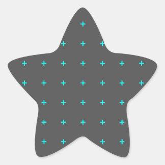 plus sign pattern star sticker
