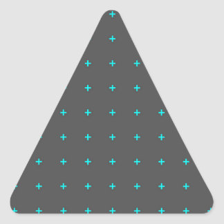 plus sign pattern triangle sticker