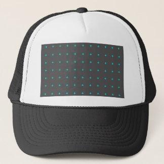 plus sign pattern trucker hat