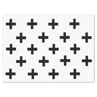 Plus Sign Print Modern Tissue Paper