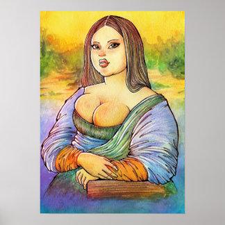 Plus Size Monalisa Poster